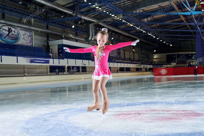 Talented Girl Figure-Skating