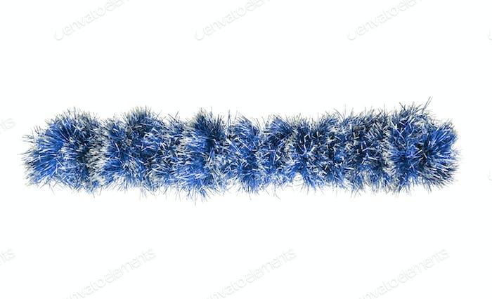 Christmas blue silver tinsel