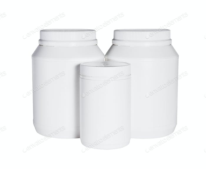 Three Plastic Containers For Health Food