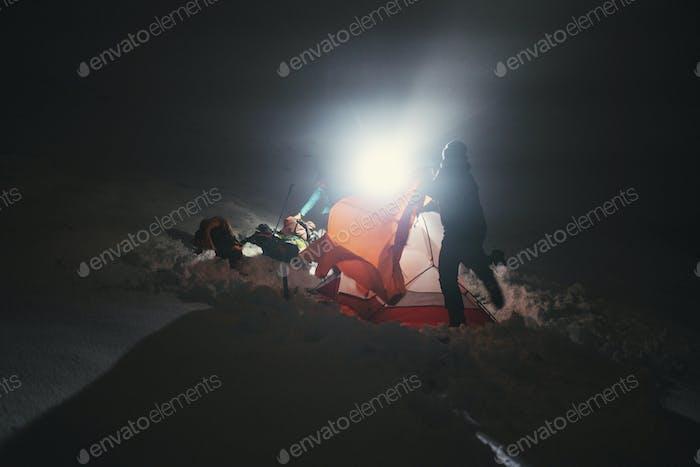 Camping en la nieve