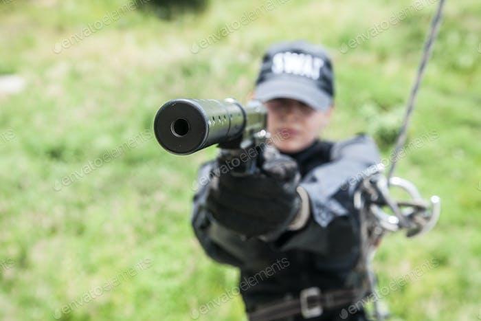 Female police officer SWAT