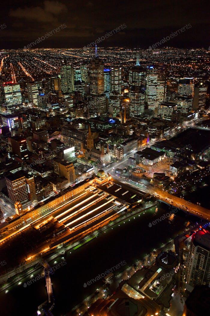 Flinders Street Station Aerial