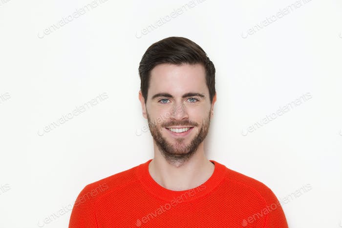 Portrait of a male fashion model smiling