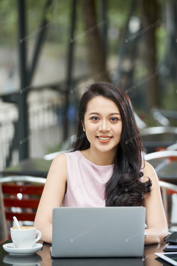 Young Businesswoman Smiling Portrait