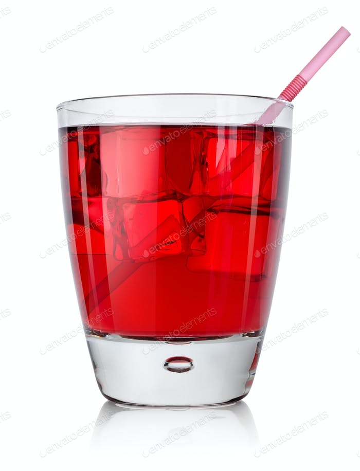 Red cocktail isolated