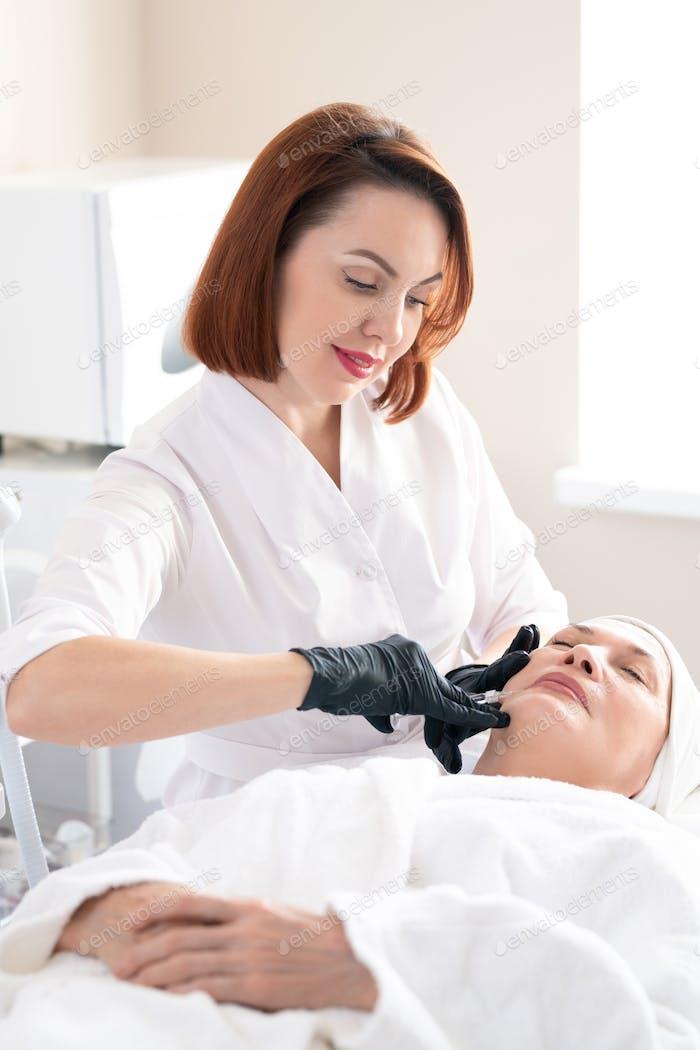 Making skin-boosting injection