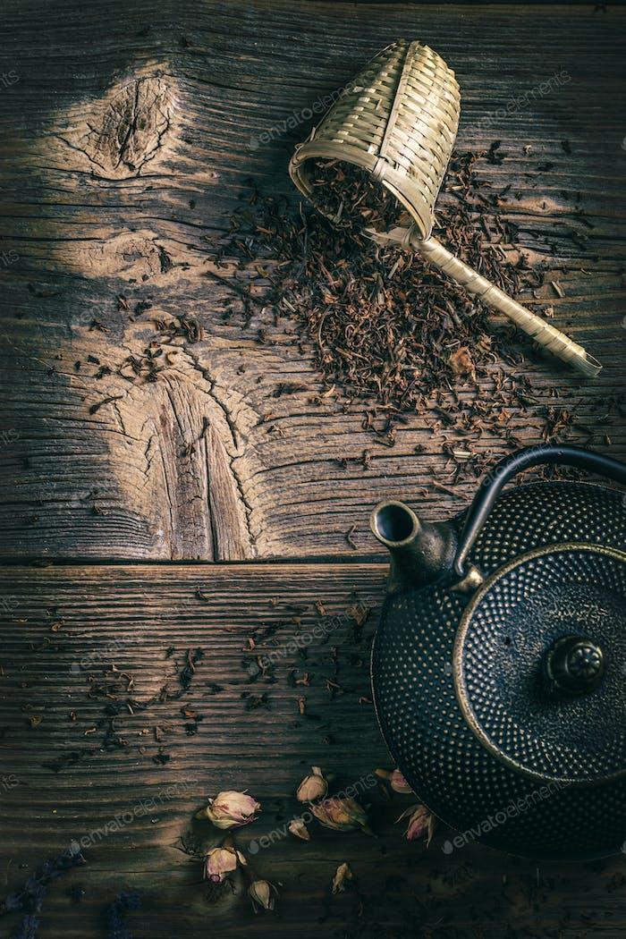 Iron asian style teapot