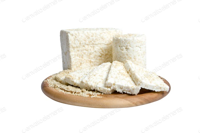 cheese specialty with sesame seeds