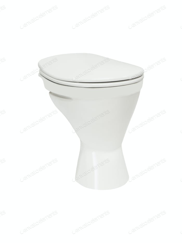 Closeup of toilet isolated
