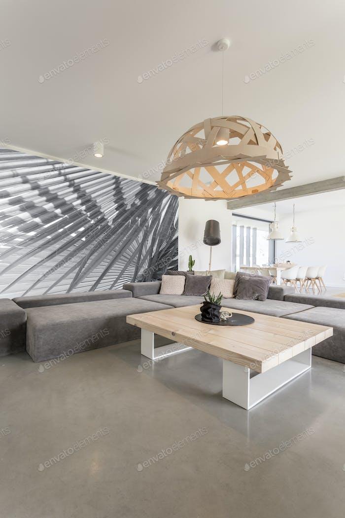 Handmade wooden lampshade