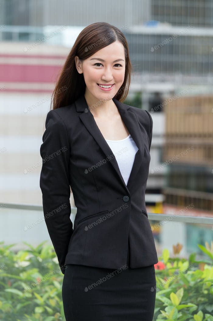 Businesswoman portrait at outdoor