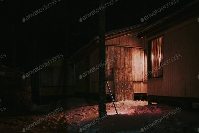Spooky rustic shed