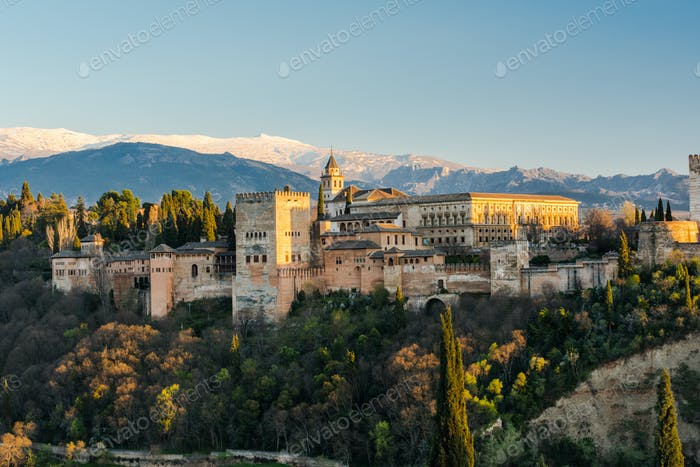 Alhambra palace in Granada,Spain