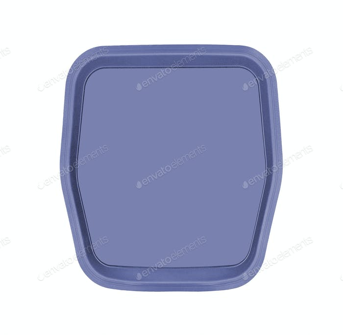 Empty baking tray isolated on white