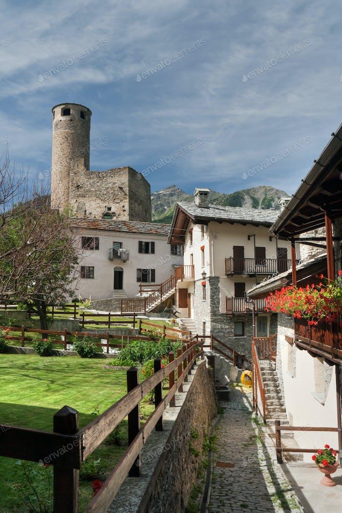 Chatelard Dorf mit Schloss