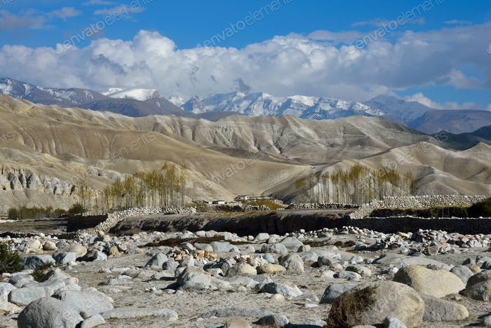 View of Upper Mustang mountains