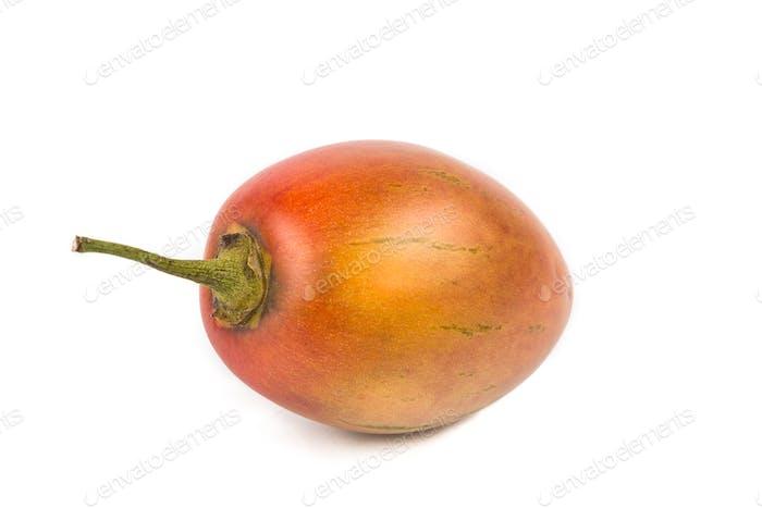 Fresh tamarillo fruits also known as tomato with white backgroun