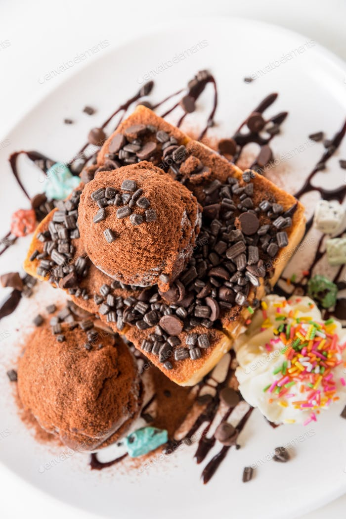 Honig-Toast Schokoladeneis