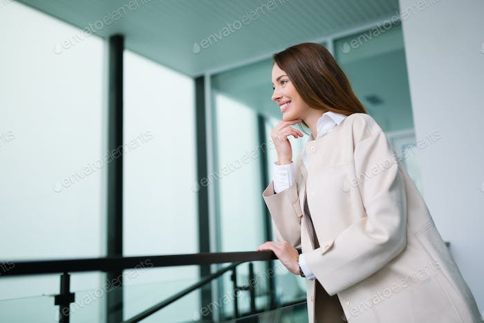 Beautiful businesswoman posing in office