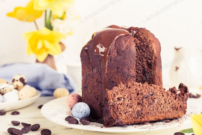 Easter orthodox sweet chocolate bread