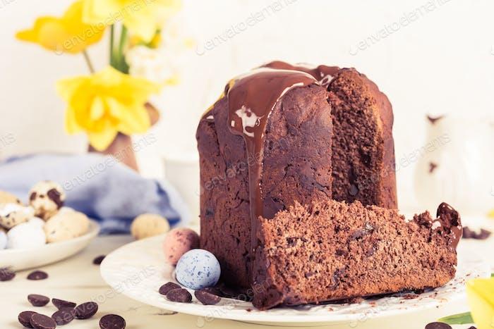 Easter orthodox sweet chocolate bread