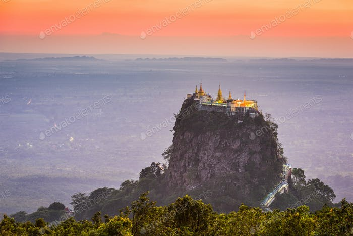 Mt. Popa in Burma