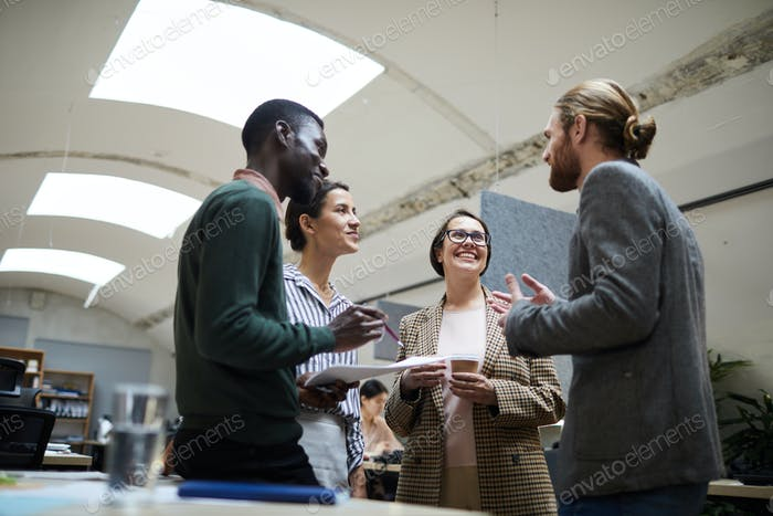 Group of Business People Chatting