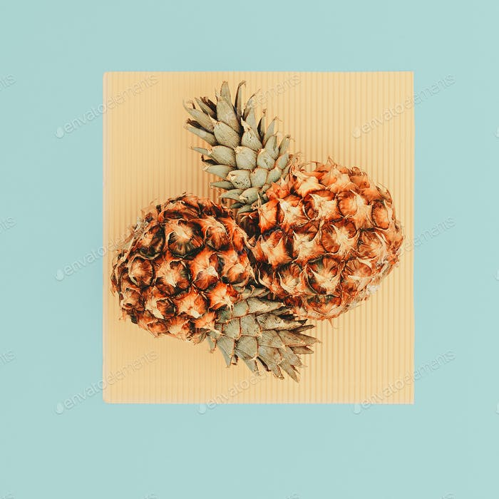 Two Mini Pineapple Minimal Art Design