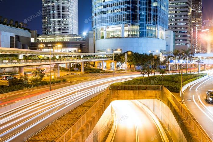 Hong Kong Stadtbild bei Nacht