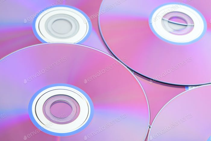 Compact disc close up