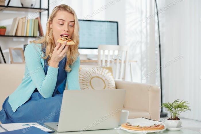 Businesswoman working from home during quarantine