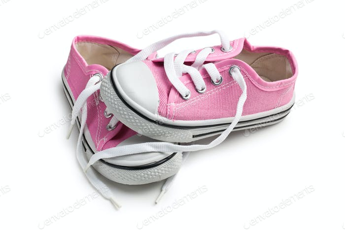 pink baby sneakers