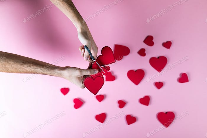 Valentine's Day with Hearts Symbol Background