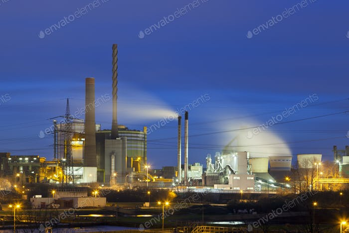 Chaotic Industry At Night