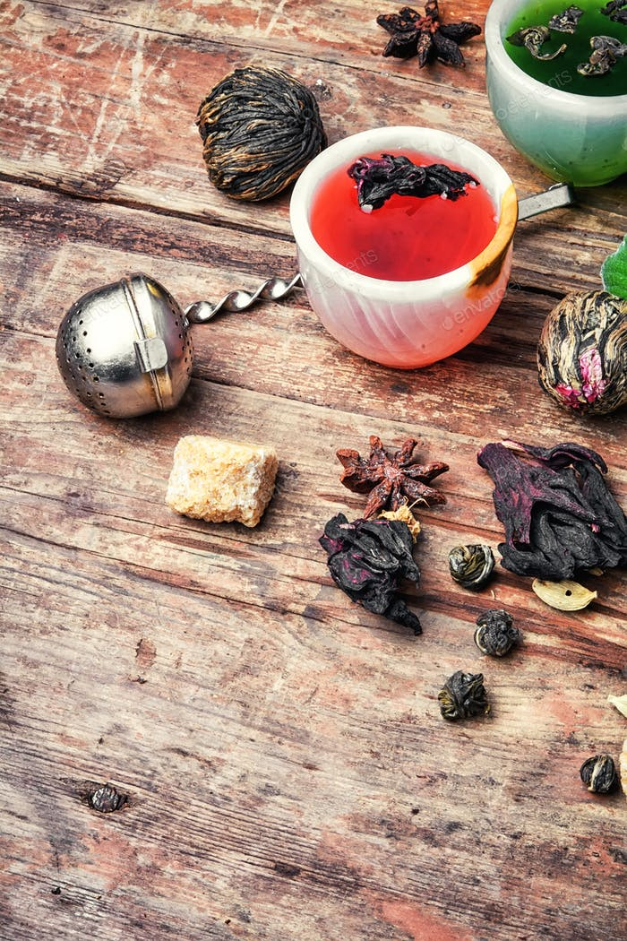 Aromatic herbal tea