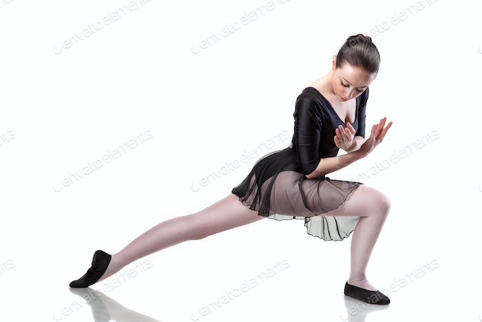 ballet dancer isolated on white