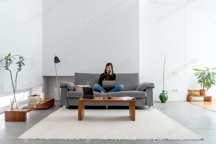 Telecommuting at home