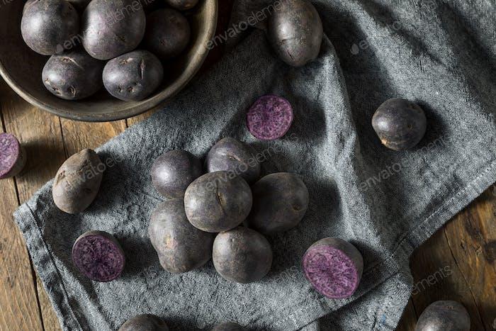 Raw Organic Purple Baby Potatoes