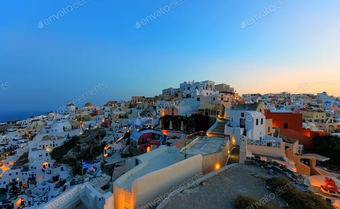 Oia in the early morning