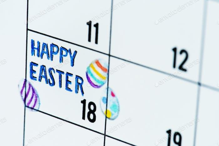 Easter holiday calendar reminder