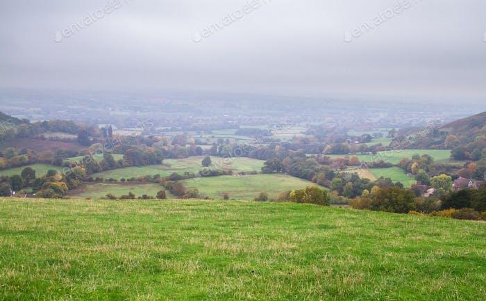 Tierras agrícolas para pastoreo de ovejas en Inglaterra