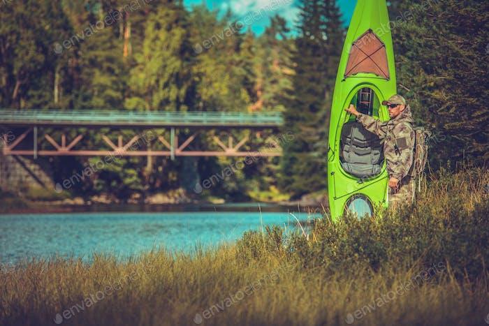 Camping mit Kajak