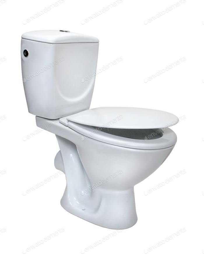 Toilet bowl, isolated on white. File includes clipping path for
