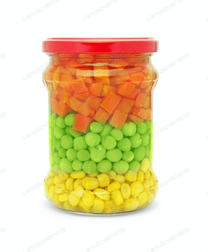vegetable mix jar