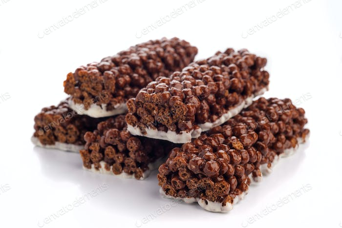 energy cereal bars with cocoa