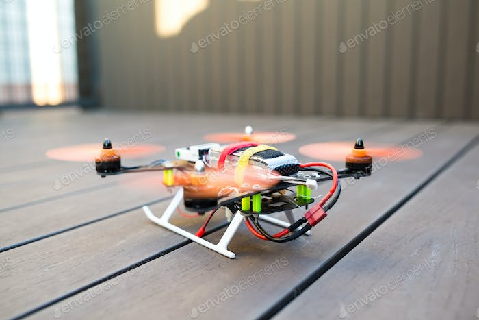 Drone ready to fly
