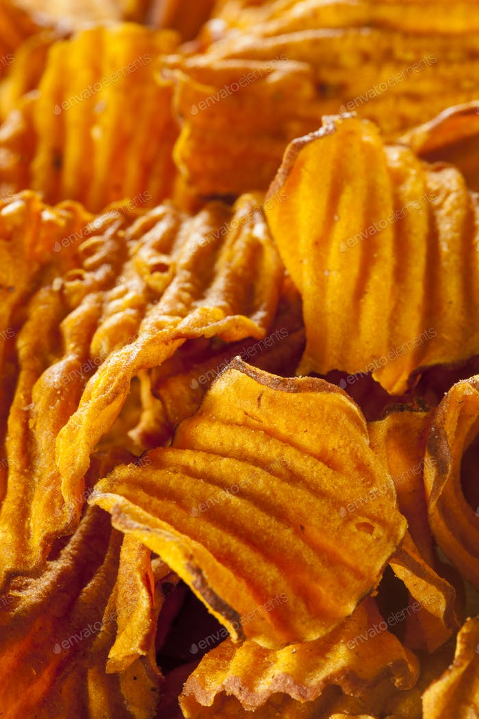 Crispy Orange Sweet Potato Chips
