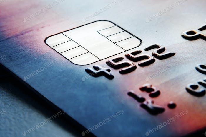 Closeup von Kreditkarten