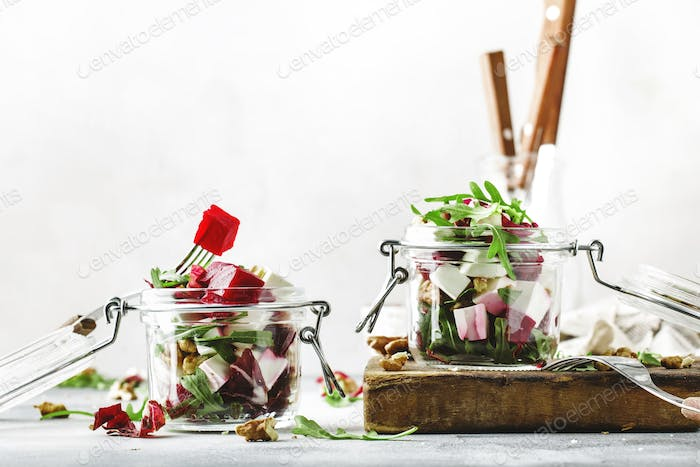 Beet and cheese healthy salad