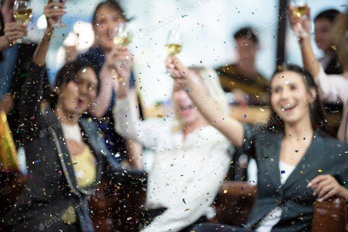 Business People Party Celebration Success Concept